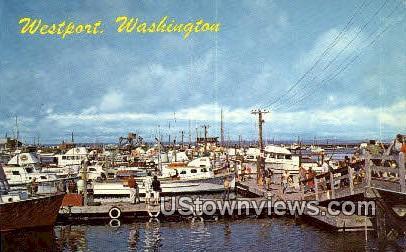 Westport, Wash,     ;     Westport, WA - Washington WA Postcard