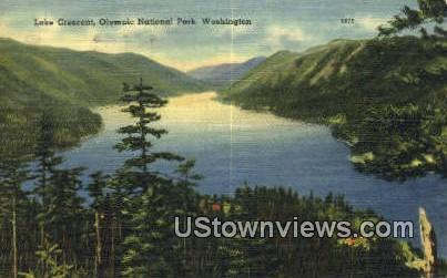 Lake Crescent - Olympic National Park, Washington WA Postcard