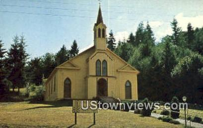 Catholic Church of the Holy Family - Frances, Washington WA Postcard
