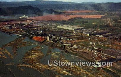 Weyerhaeuser Timber Co Plant - Longview, Washington WA Postcard