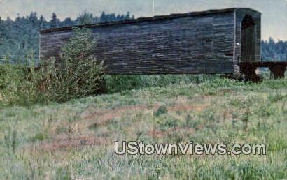 Covered Bridge - Sumner, Washington WA Postcard