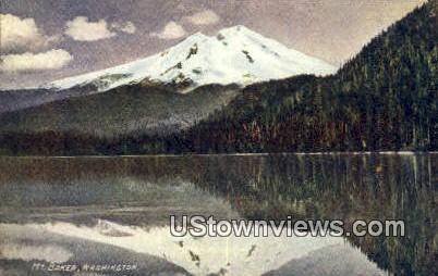 Mount Baker, Wash,     ;     Mount Baker, WA - Washington WA Postcard
