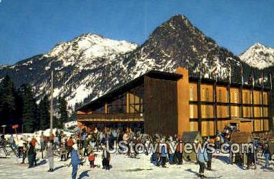 New Swiss Modern Skihaus Skiing - Snoqualmie Summit, Washington WA Postcard