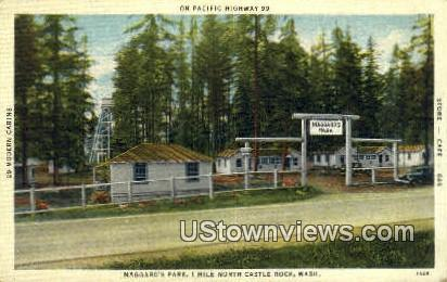 Maggard's park - Castle Rock, Washington WA Postcard
