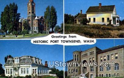 Port Townsend, WA     ;     Port Townsend, Washington Postcard