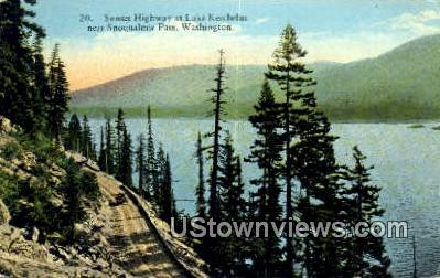 Sunset Highway - Snoqualmie Pass, Washington WA Postcard
