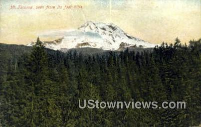 Mt Tacoma, WA     ;     Mt Tacoma, Washington Postcard