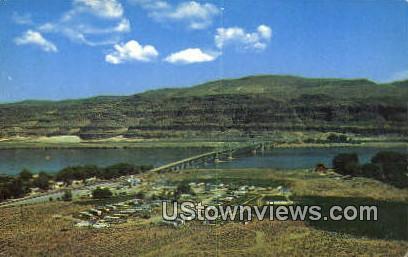 Vantage Bridge - Columbia River, Washington WA Postcard