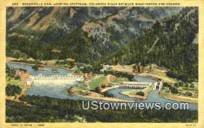 Bonneville Dam, Washington,     ;     Bonneville Dam, WA Postcard
