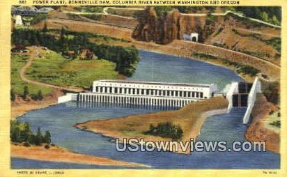 Power Plant - Bonneville Dam, Washington WA Postcard