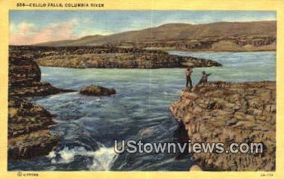Celilo Falls - Columbia River, Washington WA Postcard