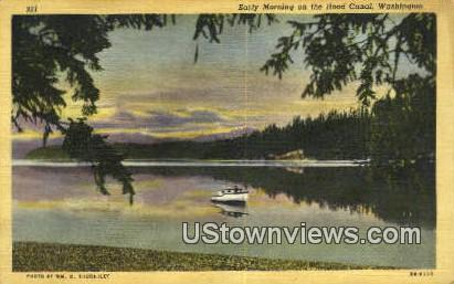 Hood Canal, Washington,     ;     Hood Canal, Wash Postcard