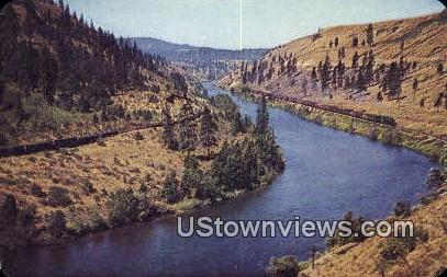 Yakima River, Wash,     ;     Yakima River, WA - Washington WA Postcard