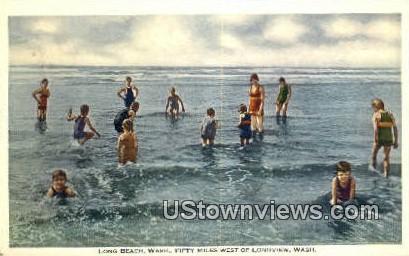 Longview - Long Beach, Washington WA Postcard