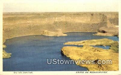 Dry Falls State Park, Washington,     ;     Dry Falls State Park, Wash Postcard