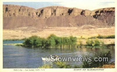 Park Lake - Sun Lakes State Park, Washington WA Postcard