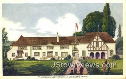 Community House - Longview, Washington WA Postcard