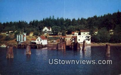 Ferry Landing at Orcas - Moran State Park, Washington WA Postcard