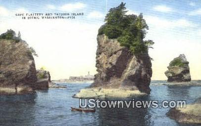 Cape Flattery - Tatoosh Island, Washington WA Postcard