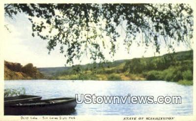 Deep lake - Sun Lakes State Park, Washington WA Postcard