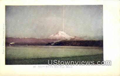 Mount Tacoma - Puget Sound, Washington WA Postcard