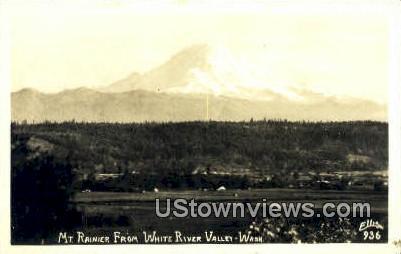 Real Photo - White River Valley - Mt Rainier, Washington WA Postcard