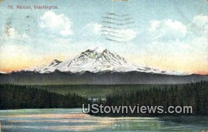Mt Rainier, Washington,     ;     Mt Rainier, Wash Postcard