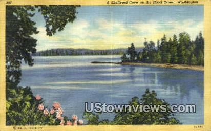 Sheltered Cove - Hood Canal, Washington WA Postcard