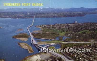 Evergreen Point Bridge - Bellevue, Washington WA Postcard