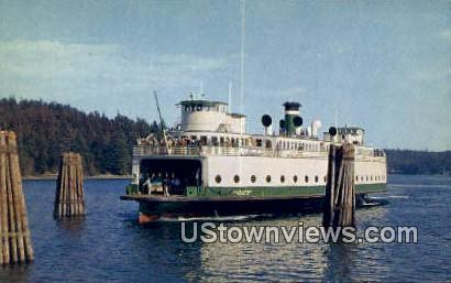 MV Klickitat - Washington State Ferry Postcards, Washington WA Postcard
