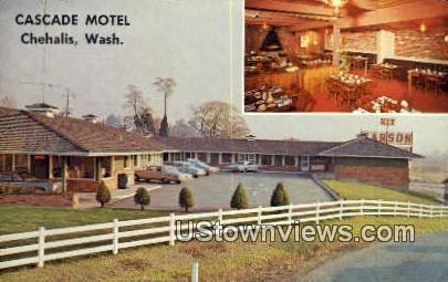 Cascade Motel - Chehalis, Washington WA Postcard
