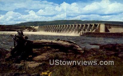Dalles Dam - Columbia River, Washington WA Postcard