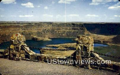 Dry Falls - Columbia River, Washington WA Postcard