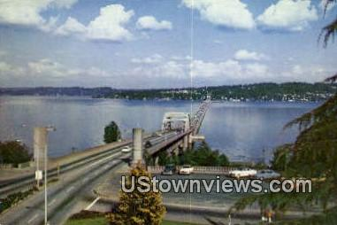 Floating Bridge - Lake Washington Postcards, Washington WA Postcard