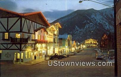 Bavarion Village - Leavenworth, Washington WA Postcard