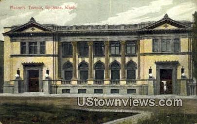 Masonic Temple - Spokane, Washington WA Postcard