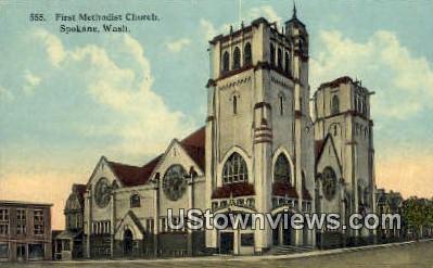 First Methodist Church - Spokane, Washington WA Postcard