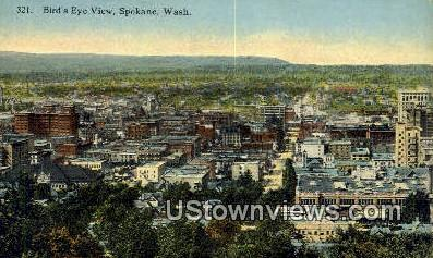 Spokane, WA     ;     Spokane, Washington Postcard