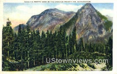 Cascade Mountains, Wash,     ;     Cascade Mountains, WA - Washington WA Postcard
