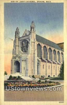 St John's Cathedral - Spokane, Washington WA Postcard
