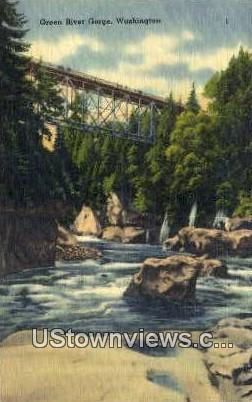 Green River Gorge, Washington,     ;     Green River Gorge, WA Postcard