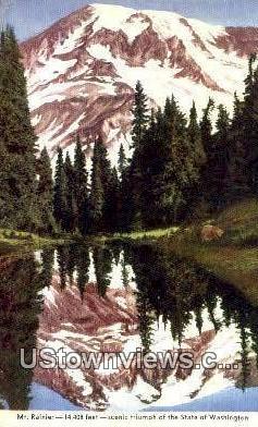 Mt Rainier, Wash,     ;     Mt Rainier, WA - Washington WA Postcard