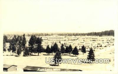 Real Photo - Fort Lewis, Washington WA Postcard