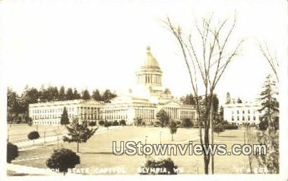 Real Photo - State Captiol Building - Olympia, Washington WA Postcard