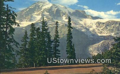 Mt. Rainier National Park, Washington,     ;     Mt. Rainier National Park, WA Postcard
