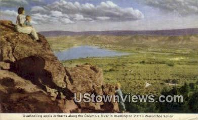 Wenatchee Valley - Columbia River, Washington WA Postcard