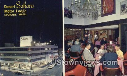 Desert Sahara Motor Lodge - Spokane, Washington WA Postcard
