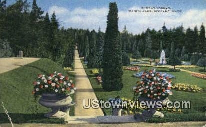Sunken Gardens, Manito Park - Spokane, Washington WA Postcard