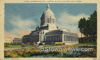 Floral Gardens, State Capitol Building - Olympia, Washington WA Postcard