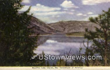 Lake Chelan, WA     ;     Lake Chelan, Washington Postcard